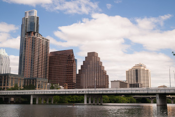 Smooth Reflection Austin Texas Downtown City Skyline Colorado River