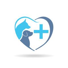 Veterinary dog logo. Vector graphic design