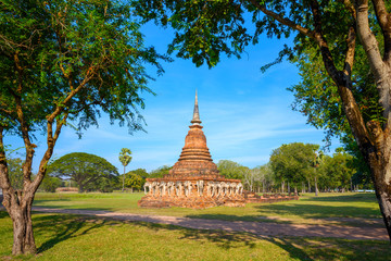 Wat Sorasak Temple at Sukhothai Historical Park, a UNESCO World Heritage Site in Thailand