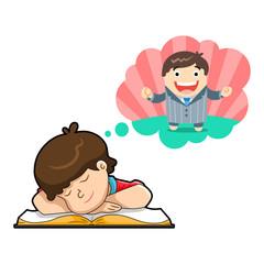 become a businessman. dream big illustration