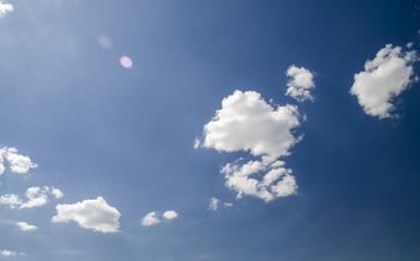 Clouds in deep blue summer sky
