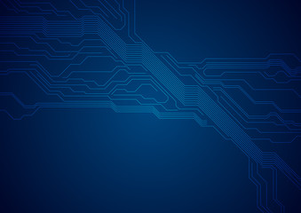 Dark blue circuit board technology futuristic background