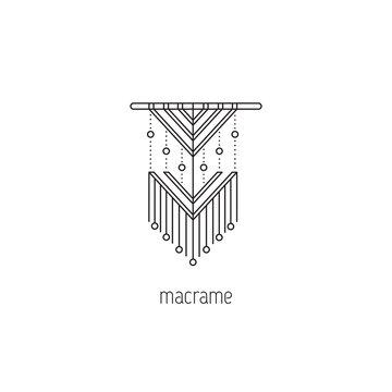 Macrame line icon