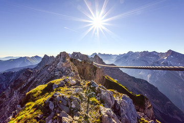 Beautiful hiking trail / via ferrata called