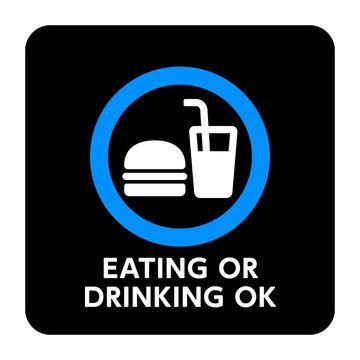サイン 飲食OK 飲食,OK,可能