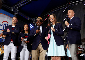 NBC's 'Today' show anchors model the official Opening Ceremony outfit that Team USA members will wear in New York