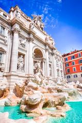 Poster de jardin Rome Rome, Italy - Trevi Fountain and Palazzo Poli