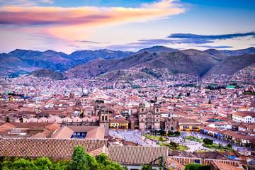 Fototapete - Cusco, Peru - Plaza de Armas