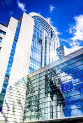 European Parliament building in Bruxelles, Belgium