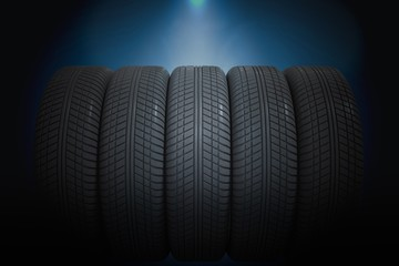 3D rendered illustration of car tires.