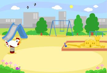 Empty urban playground vector