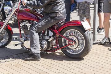 Shopper Motorrad in rot