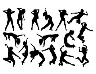 Fun and Cool Hip Hop Dancer, art vector silhouettes design