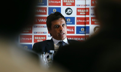 Wales manager Chris Coleman during the press conference