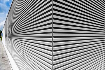 Gebäude abstrakt Metall-Holz Verkleidung