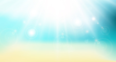 abstract gradient backdrop. panorama beach sea and sunlight. sunny vector background travel