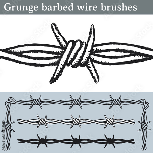 Grunge barbed wire brushes  Brushes for Illustrator to draw