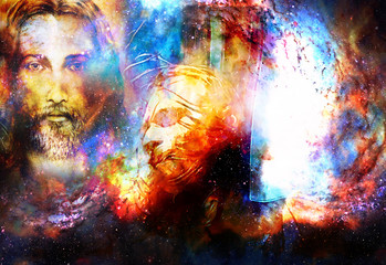 interpretation of Jesus on the cross in cosmic space.
