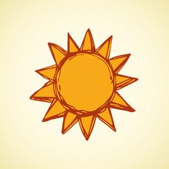 Symbols of sun. Vector illustration