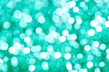 Closeup Blue Green Light Bokeh Background