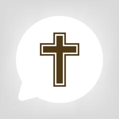 Kreis Sprechblase - Kreuz christlich