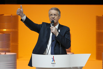 Bernard Lapasset, International Rugby Board Chairman and president of the French Committee for International Sports, attends the presentation of the Paris candidacy for the 2024 Olympic and Paralympic Games in Paris