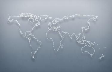 world map out line, digital world map, hight tech map, futureristic world map