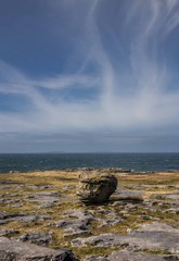 Rocky landscape - The Burren, Wild Atlantic Way, Ireland - on the road to Cliffs of Moher