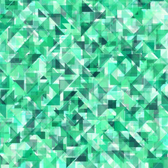 Vector seamless pattern with the image of the texture and color palette of emerald for your design.