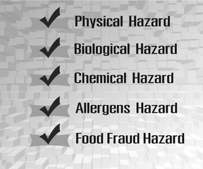 types of hazards that can be found in food products - Buy this stock