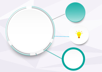 infographic circle idea step of business on white polygon vector