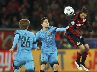 Bayer Leverkusen v FC Barcelona - UEFA Champions League Group Stage - Group E