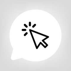 Kreis Sprechblase - Mausklick