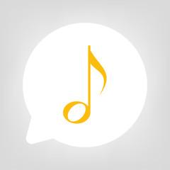 Kreis Sprechblase - Musik Note