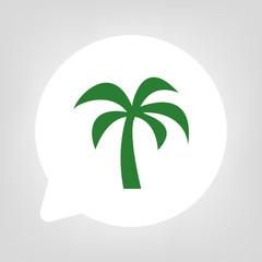 Kreis Sprechblase - Palme