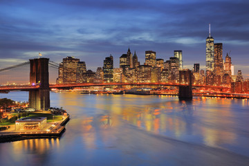 United States, New York City, Manhattan, Lower Manhattan, Brooklyn Bridge