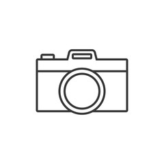 Camera simple outline icon