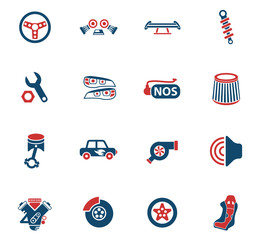 auto tuning icon set