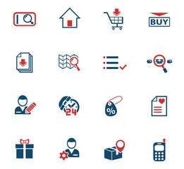 e-commerce interface icon set