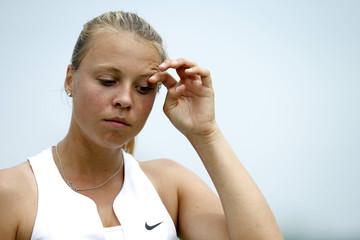 Women's Singles - Estonia's Anett Kontaveit during the first round