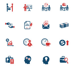 office life icon set