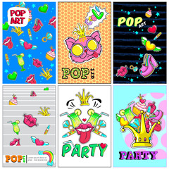 Colorful Fashion Patches Posters