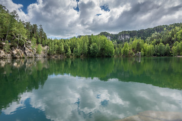 Emerald lake in Adrspach - Teplice rocks