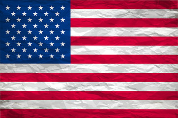 The USA flag painted on white paper with backgrond vector