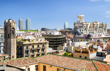 Barcelona from roof ot the cathedral
