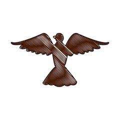 bird pigeon freedom peace wings open vector illustration
