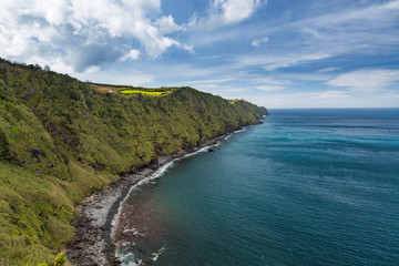 Coast and cliffs near Nordeste on the island of Sao Miguel