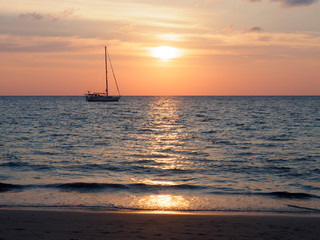 Sailboat on the sea at Phuket, Thailand