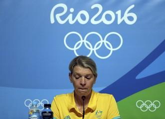 Kitty Chiller gives a press conference in Rio de Janeiro