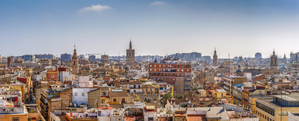 Fototapete - view of Valencia, Spain